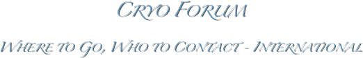 Cryo Forum